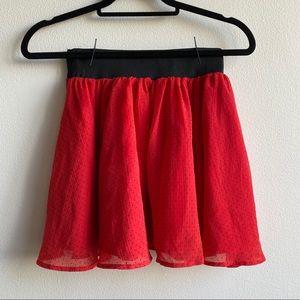 Polka Dot Chiffon Skirt - H&M